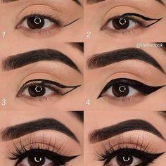 Perfect Makeup Tips For Your Stunning Almond Eyes Eyeliner Tutorial Almond eyes Makeup Perfect Stunning Tips Eyeliner Make-up, Eyeliner For Almond Eyes, Almond Eye Makeup, Thick Eyeliner, Contour Makeup, Eye Makeup Tips, Beauty Makeup, Makeup Ideas, Eyeshadow Makeup