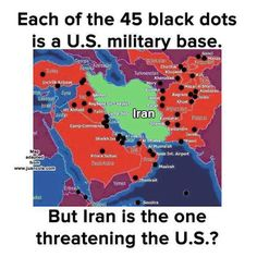 If you think Iran is a threat ,Look closely..!! Iran has not attacked any nation in 200 years ,on the other hand if we look at U.S History they have been at war at 222 out of 239 years sense 1776..! The truth is, the US and Israel are afraid that if Iran gets the bomb it will effectively end their long term Geopolitical and Economical plan for the Middle East and theirs aggression in that region . If Iraq had Nuke ,there wouldn't be any kind of invasion of Iraq !! That´s a fact !