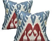 Affordable ikat pillow covers