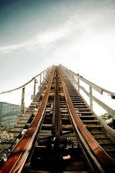 They say that life is like a rollercoaster.... I don't know about all that, I think that I'm either convincing someone that I'm too short to ride, or that I'm on a babycoaster because I think that I would have had a heartattack from the drop already...