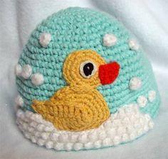 crochet duck hat  Inspiration