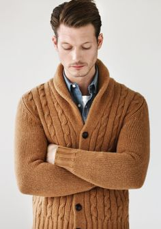 hipster old man sweater.