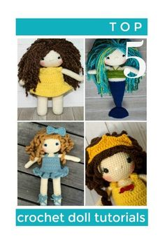 f390c595554b07 Crochet Dolls Design Free Crochet Doll Tutorials- Everything you need to  make the perfect doll