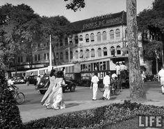 Saigon Jul 1948 - Locals riding the street car, in French Indochina. by manhhai, via Flickr