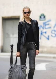perfect fitted leather jacket