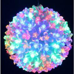 Acheter Boule lumineuse pas cher exterieur 100 LED Multicolore - Badaboum  Boule Lumineuse Exterieur, Noel ececfa301ab5