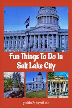 5 Fun Things to Do in Salt Lake City | #travel #Utah #SaltLakeCity #Mormons #TempleSquare #TabernacleChoir #history Stuff To Do, Things To Do, Tabernacle Choir, Temple Square, Us Travel Destinations, Salt Lake City Utah, Paths, Adventure, History