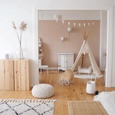We just love this gorgeous kids play area by Hope Baby Play Areas, Kids Play Area, Baby Bedroom, Girls Bedroom, Kids Room Design, Nursery Design, Little Girl Rooms, Kids Decor, Room Inspiration