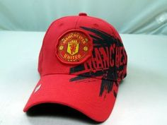 6c90694bd61 FC MANCHESTER UNITED OFFICIAL TEAM LOGO CAP   HAT - MU013 by Tripact Inc.   15.95