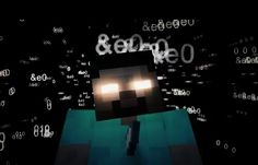 "This is Herobrine the Minecraft ""legend""...kinda creepy"