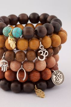 Yoga Inspired Wood Mala Bracelet