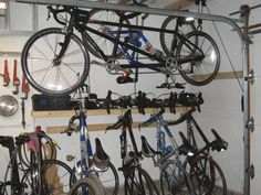http://www.bawtie.com/creative-bike-storage-ideas/ Creative Bike Storage Ideas : Various Bicycle Garage Interior Creative Bike Storage Ideas