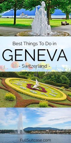Wondering what to see and do in Geneva Switzerland? This ultimate guide covers all the best things to do, main tourist attractions, and suggested one day itinerary. Find out! Geneva Switzerland, Switzerland Itinerary, Stuff To Do, Things To Do, Free Things, Europe Travel Guide, Travel Tips, Europe Destinations, Travel Goals