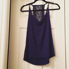 Express tank Violet tank with lace back. Express Tops Tank Tops