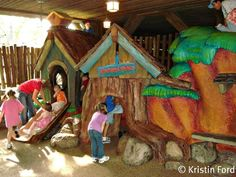 Play areas for kids in the parks.
