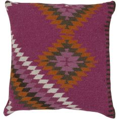 Designed by Beth Lacefield, this pillow's kilim feel will bring the perfect balance of fresh and elegance to any setting. This accent pillow is availabe with either feather and down or polyester filling.