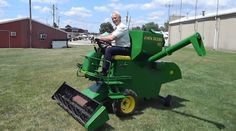 The Man Who Turned A Simplicity Tractor Into A Miniature Combine Lawn Mower Is The Greatest Living American