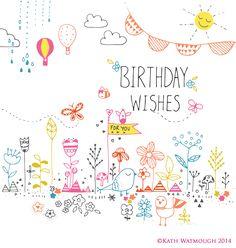 Birthday Wishes design.