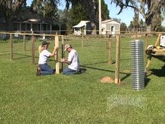 Dog Kennel Fence Installation Part 2 of 2 - YouTube