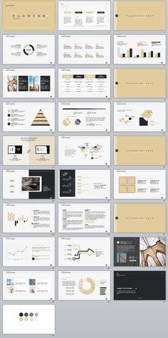 Business infographic : 28 beige fashion Annual Work PowerPoint template #powerpoint #templates #presen
