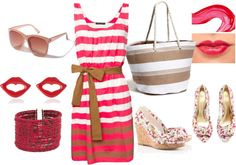 Cherry Beach Outfit, created by sonia-roxy-m on Polyvore
