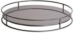 Titanium Round 19-Inch-W Howard Elliott Cylinder Tray -