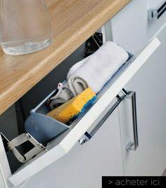 panier faux tiroir pour petite cuisine