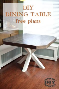 Dining table Plans. Visit our website for how to build the dining table plans and instructions with pictures.  #diningtable #diydiningtable #diytable #diyfurniture #table #diningroom #diningroomideas