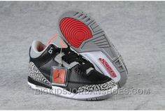 Now Buy Discount Nike Air Jordan 3 Kids Black Grey Red Shoes Save Up From Outlet Store at Footlocker. Kids Shoes Online, Nike Kids Shoes, Jordan Shoes For Kids, New Jordans Shoes, Air Jordan 3, Kids Jordans, Air Jordan Shoes, Kid Shoes, Shoes Uk