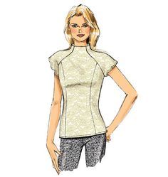 We'd sew this chic top pattern from Butterick out of a stretch lace, brocade or jacquard. Perfect for holiday parties. B6134.