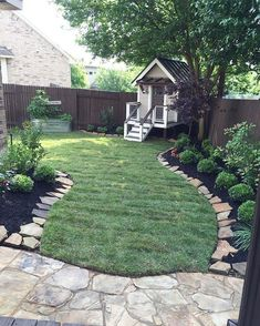 Totally Difference Summer Backyard Ideas & Landscaping -my- Landscape Farmhouse Landscaping, Mulch Landscaping, Landscaping With Rocks, Front Yard Landscaping, Landscaping Software, Landscaping Design, Back Yard Landscape Ideas, Landscaping Borders, Front Yard Decor