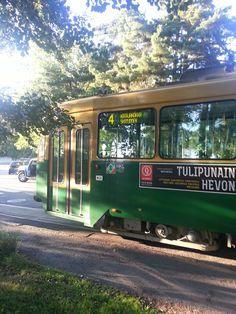 Tram nr. 4 in Helsinki. The most Bohemian tramline in the world :)