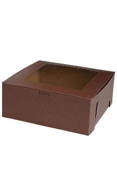 """Chocolate Bakery Boxes 10"""" x 10"""" x 4"""""""