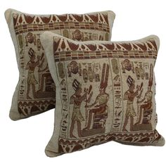 Blazing Needles Egyptian Hieroglyphs Chenille Corded Throw Pillows ($27) ❤ liked on Polyvore featuring home, home decor, throw pillows, beige, tapestry throw pillows, cream colored throw pillows, blazing needles, cream throw pillows and square throw pillows
