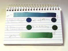 Alice Stroppel's method for recording color blends which allows her to reproduce favorite canes.  #Polymer #Clay #Colormix