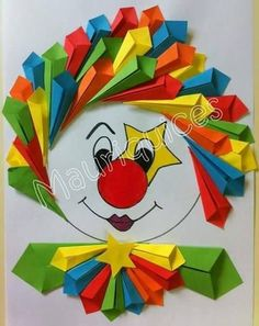 us wp-content uploads 2015 02 free-clown-craft. Kids Crafts, Clown Crafts, Circus Crafts, Preschool Crafts, Diy And Crafts, Arts And Crafts, Paper Crafts, Carnival Crafts, Art N Craft