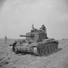 A Cromwell Mk IV of No. 2 Squadron, 2nd (Armoured Reconnaissance) Battalion, Welsh Guards, at Pickering in Yorkshire, 31 March 1944. The tank is named 'Blenheim'.