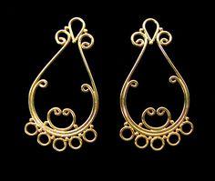 Sale 2 pcs vermeil chandelier earring components by sale 2 pcs vermeil chandelier earring components by goldenbutterflybeads etsys amazing treasures pinterest mozeypictures Gallery