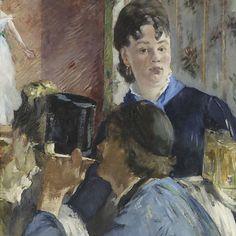 """Edgar Monet, """"A garçonete com cervejas"""", c.1878-1879"""