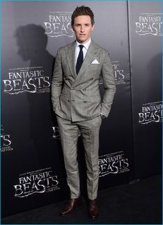 November 2016: Eddie Redmayne attends the world premiere of Fantastic Beasts and Where to Find Them in New York City.