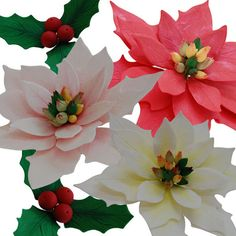 Handmade Hollies & Poinsettia | Flickr - Photo Sharing!