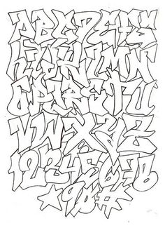 graffiti alphabet for graffiti project by nina - { Street Art } - Graffiti Images, Graffiti Designs, Graffiti Artwork, Graffiti Drawing, Street Art Graffiti, Graffiti Numbers, Graffiti Quotes, Graffiti Wallpaper, Graffiti Artists