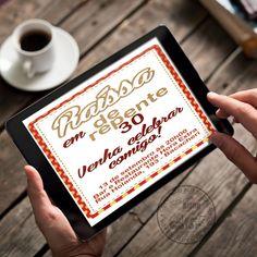 Convite Virtual Digital criado para comemoração de 30 anos - De Repente 30