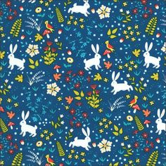 Magical Bunnies Cotton Fabric Timeless Treasures By The Half Metre