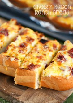 I've put all your favorites together in this fantastic and easy Cheesy Bacon Ranch Bread! Make it in the oven or on grill - it's your choice!