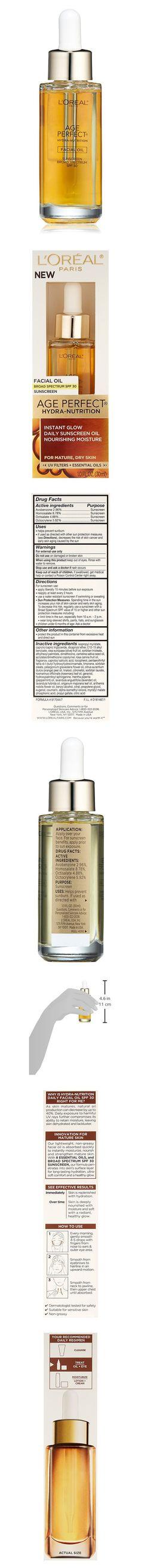 L'Oreal Paris Age Perfect Hydra-Nutrition Facial Oil SPF 30 #beauty #lorealparis