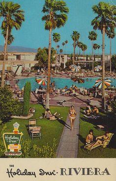 Holiday Inn Riviera - Palm Springs, California vintage postcard via flickr