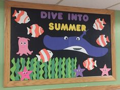 Dive into summer bulletin board