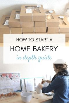 Do you want to learn how to start your own home bakery? How to make money, how to pass a health inspection and how to build your brand? If so- check out my IN-DEPTH guide! Bakery Business Plan, Baking Business, Business Planning, Business Tips, Catering Business, Business Logo, Business Opportunities, Event Planning, Bakery Names