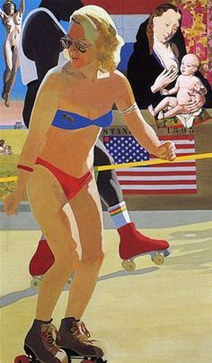 Peter Blake Madonna of Venice Beach © Peter Blake All rights reserved, DACS Peter Blake Artist, James Rosenquist, Jasper Johns, David Hockney, Art For Art Sake, Venice Beach, Cultura Pop, Psychedelic Art, Andy Warhol